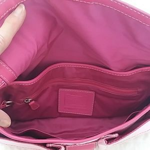 Coach Shoulder bag leather and fabric